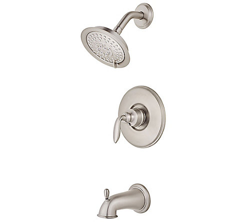 Brushed Nickel Avalon 1-Handle Tub & Shower, Trim Only - 808-WS-CB0K - 1