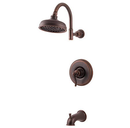 Rustic Bronze Ashfield 1-Handle Tub & Shower, Complete with Valve - 808-YP0U - 1
