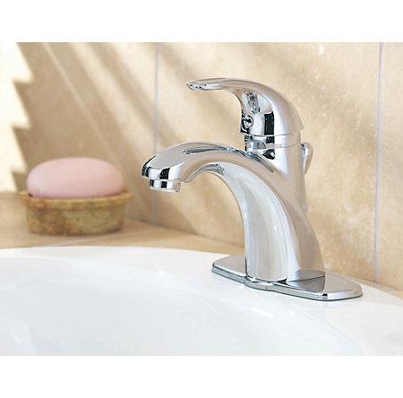 Polished Chrome Parisa Single Control, Centerset Bath Faucet - 8A2-VC00 - 2