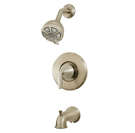 Brushed Nickel Pasadena 1-Handle Tub & Shower - 8P8-PDKK - 1