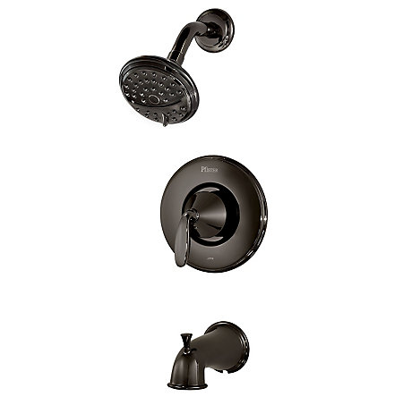 Midnight Chrome Pasadena Tub & Shower Combo - 8P8-PDMC - 1
