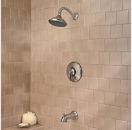 Brushed Nickel Langston 1-Handle Tub & Shower, Trim Only - 8P8-WS-LN0K - 2