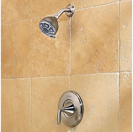 Brushed Nickel Pasadena 1-Handle Tub & Shower, Complete with Valve - 8P8-WS-PDKK - 3
