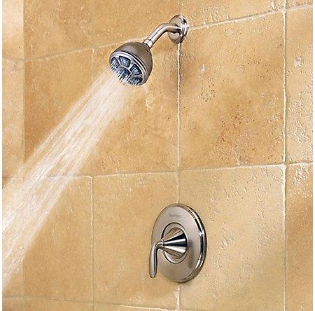 Brushed Nickel Pasadena 1-Handle Tub & Shower, Complete with Valve - 8P8-WS-PDKK - 4