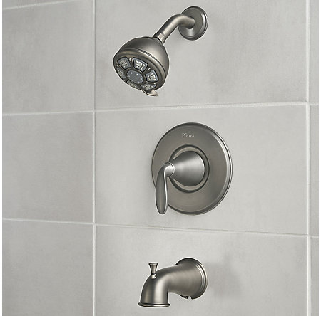 Slate Pasadena 1-Handle Tub & Shower, Complete with Valve - 8P8-WS-PDSSL - 3