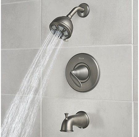 Slate Pasadena 1-Handle Tub & Shower, Complete with Valve - 8P8-WS-PDSSL - 4
