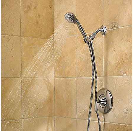 Brushed Nickel Pasadena 1-Handle Tub & Handshower, Complete With Valve - 8P8-WS-1PHHK - 2