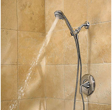 Brushed Nickel Pasadena 1-Handle Tub & Handshower, Complete With Valve - 8P8-WS-PHHK - 3
