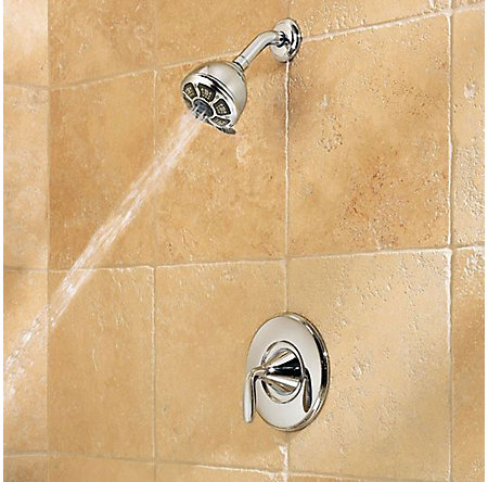 Polished Chrome Pasadena 1-Handle Tub & Shower, Complete With Valve - 8P8-WS-1PDCC - 5