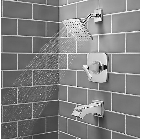 Polished Chrome Venturi 1-Handle Tub & Shower, Complete with Valve - 8P8-WS2-VNSC - 4