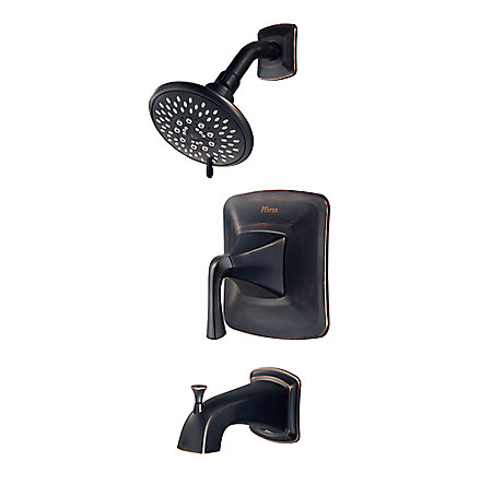 Tuscan Bronze Selia 1-Handle Tub & Handshower, Complete With Valve - 8P8-WS-SLSY - 1