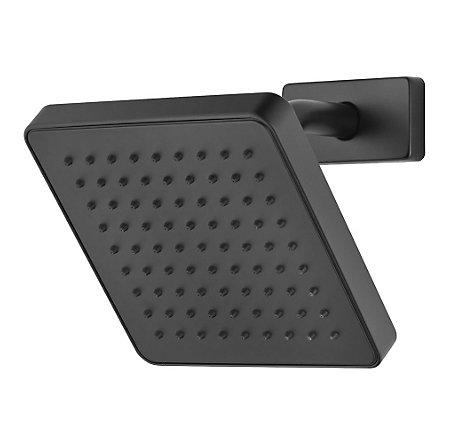 Black Kenzo Raincan Showerhead - 973-194B - 1