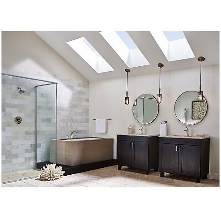 Brushed Nickel Avalon 3-Hole Roman Tub, Trim Only - RT6-5CB1K - 3