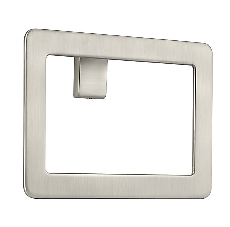 Brushed Nickel Modern Towel Ring - BRB-MD1K - 1