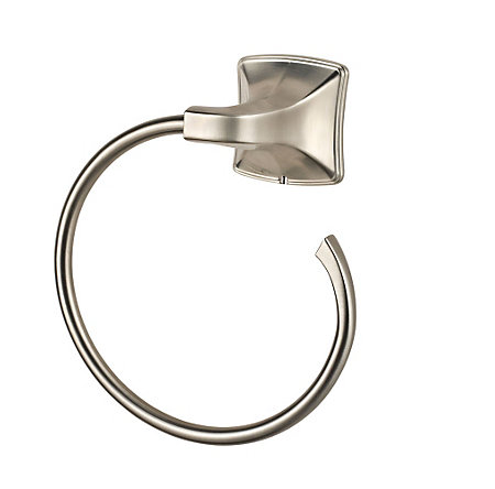 Brushed Nickel Selia Towel Ring - BRB-SL0K - 1