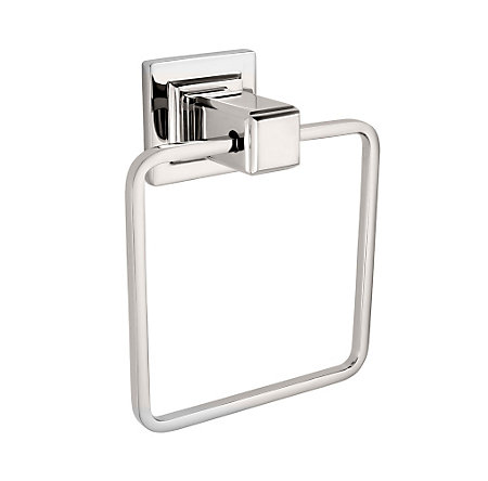 polished nickel carnegie towel ring - brb-we1d - 1
