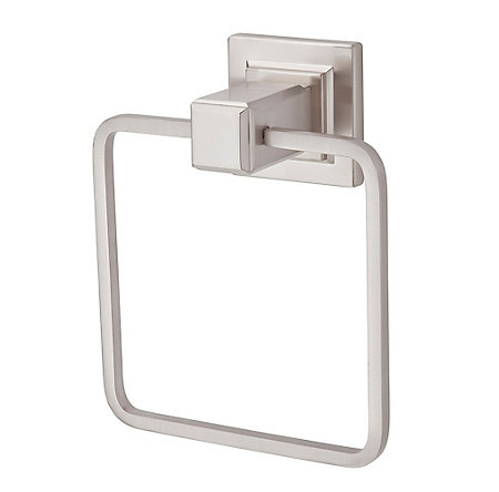 Brushed Nickel Carnegie Towel Ring - BRB-WE1K - 1