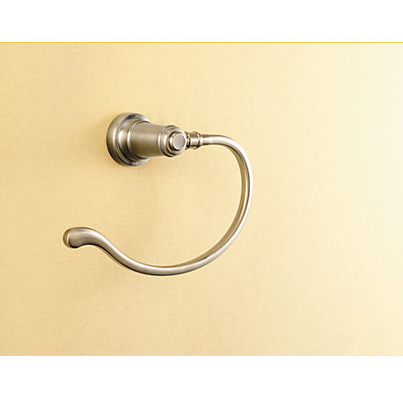 Brushed Nickel Ashfield Towel Ring - BRB-YP0K - 2