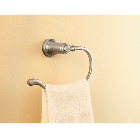 Brushed Nickel Ashfield Towel Ring - BRB-YP0K - 3