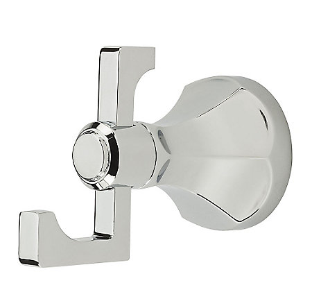 Polished Chrome Arterra Robe Hook - BRH-DE0C - 1