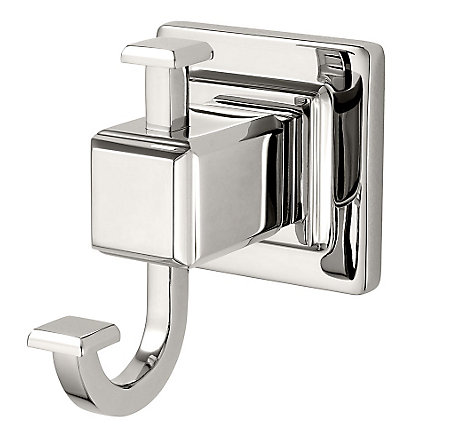 Polished Nickel Carnegie Robe Hook - BRH-WE1D - 1