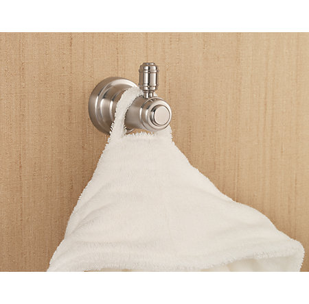 Brushed Nickel Ashfield Robe Hook - BRH-YP0K - 3