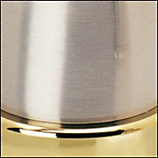 Brushed Nickel/Polished Brass