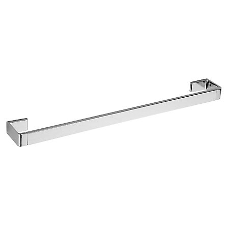 "Polished Chrome Modern 18"" Towel Bar - BTB-MD1C - 1"