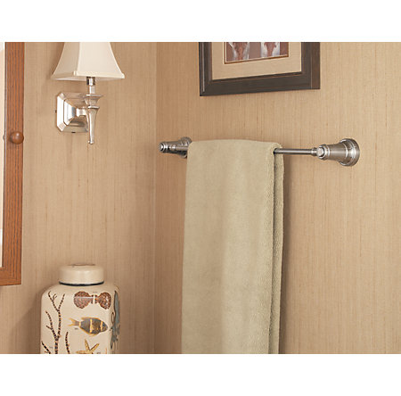 "Brushed Nickel Ashfield 24"" Towel Bar - BTB-YP2K - 3"