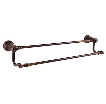 rustic bronze ashfield double towel bar - btb-yp5u - 1