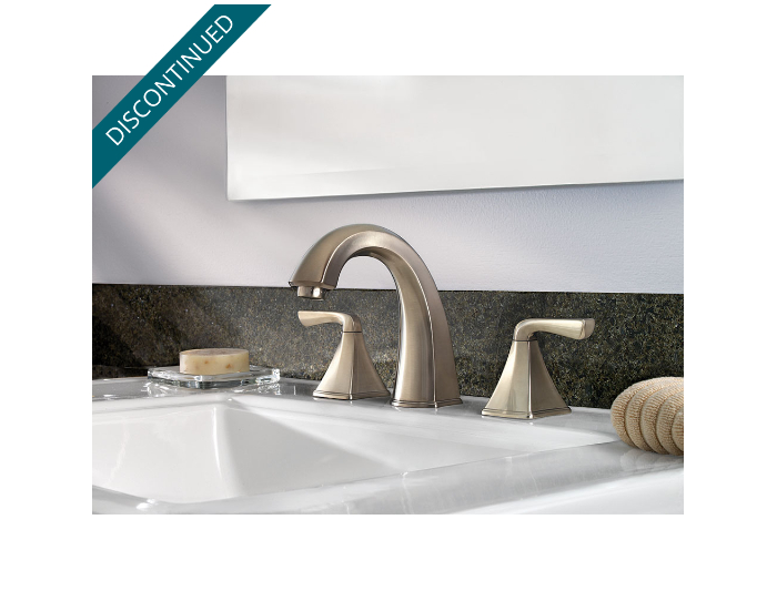 Brushed. Brushed Nickel Selia Widespread Bath Faucet   F 049 SLKK   Pfister