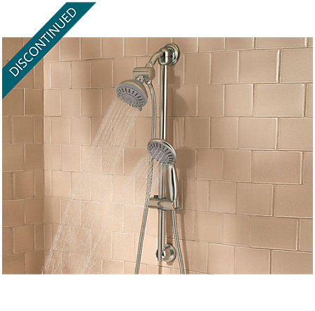 Brushed Nickel Slide Bars and Handheld Showers - Shower Products/Systems - 016-HH3K - 2