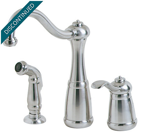 Stainless Steel Marielle 1-Handle Kitchen Faucet - 026-3NSS - 1