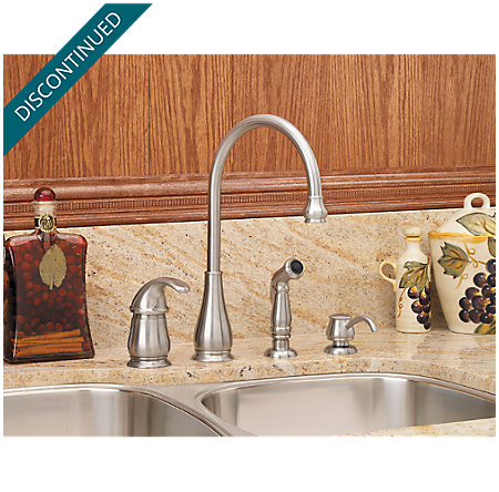 Stainless Steel Treviso 1-Handle Kitchen Faucet - 026-4DSS - 2