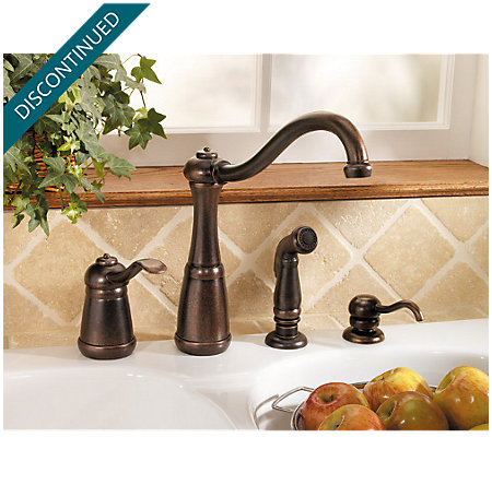 Rustic Bronze Marielle 1-Handle Kitchen Faucet - 026-4NUU - 4