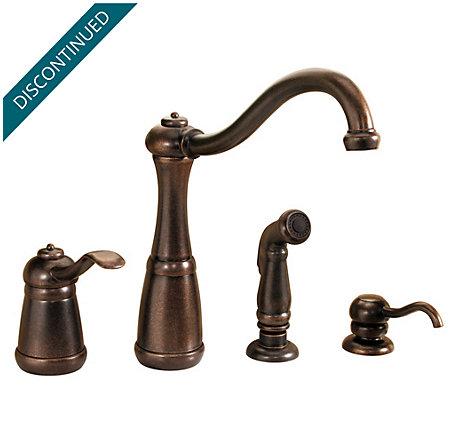Rustic Bronze Marielle 1-Handle Kitchen Faucet - 026-4NUU - 1