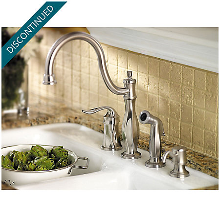 Stainless Steel Cadenza 1-Handle Kitchen Faucet - 026-4TWS - 5