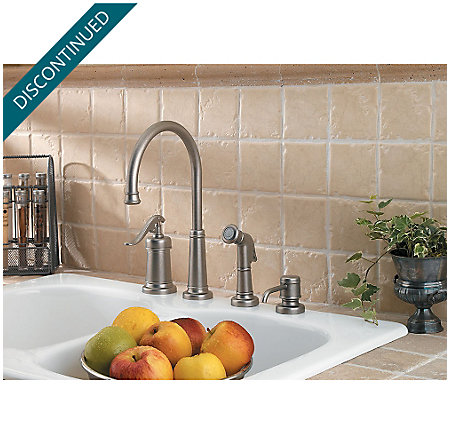 Rustic Pewter Ashfield 1-Handle Kitchen Faucet - 026-4YPE - 2