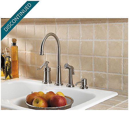 Brushed Nickel Ashfield 1-Handle Kitchen Faucet - 026-4YPK - 2
