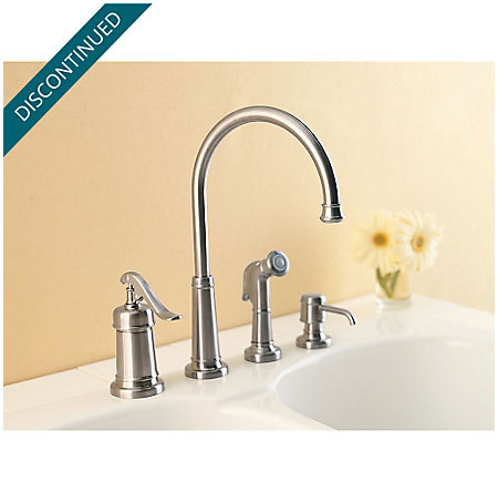 Brushed Nickel Ashfield 1-Handle Kitchen Faucet - 026-4YPK - 3