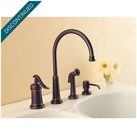 Rustic Bronze Ashfield 1-Handle Kitchen Faucet - 026-4YPU - 3