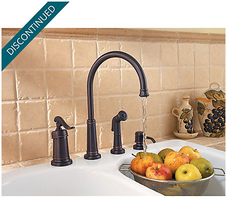 Tuscan Bronze Ashfield 1-Handle Kitchen Faucet - 026-4YPY - 3