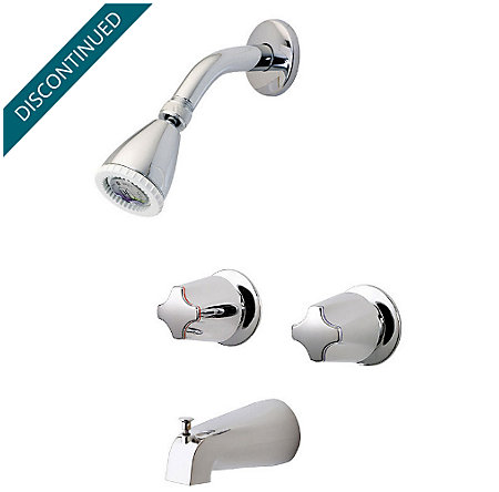 Polished Chrome Tub & Shower Combo - 03-211 - 1