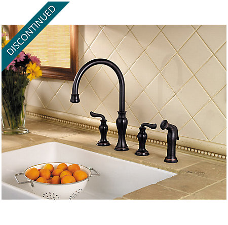 Tuscan Bronze Florentino 2-Handle Kitchen Faucet - 031-4VAY - 2