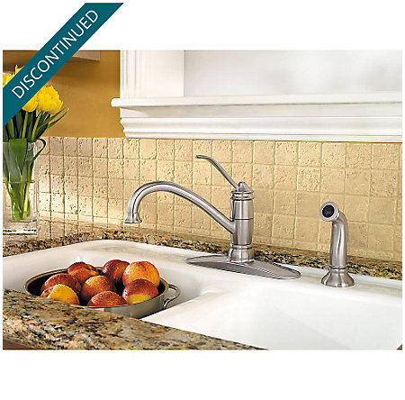 Stainless Steel Brookwood 1-Handle Kitchen Faucet - 034-4ALS - 2