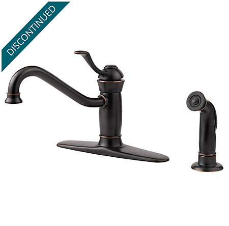 Tuscan Bronze Wakely 1-Handle Kitchen Faucet - 034-4FRY - 1