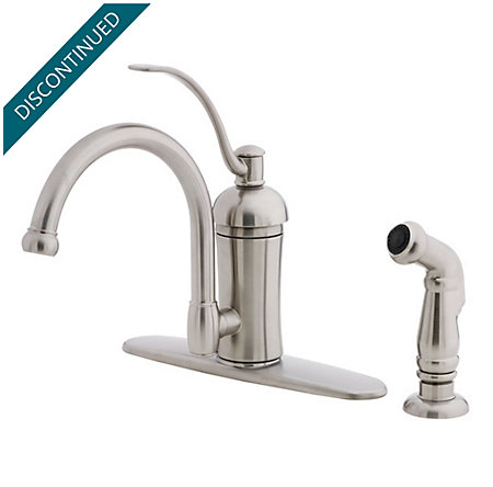 Stainless Steel Amherst 1-Handle Kitchen Faucet - 034-4HAS - 1