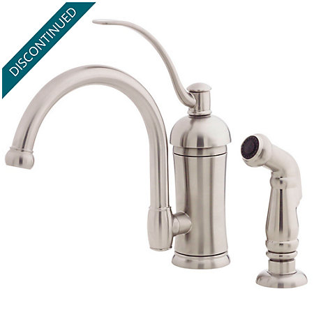Stainless Steel Amherst 1-Handle Kitchen Faucet - 034-4HAS - 2