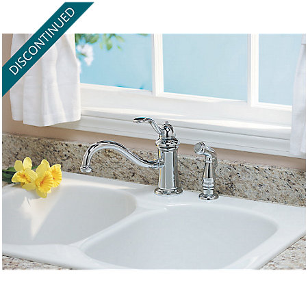 Polished Chrome Marielle 1-Handle Kitchen Faucet - 034-4TCC - 4