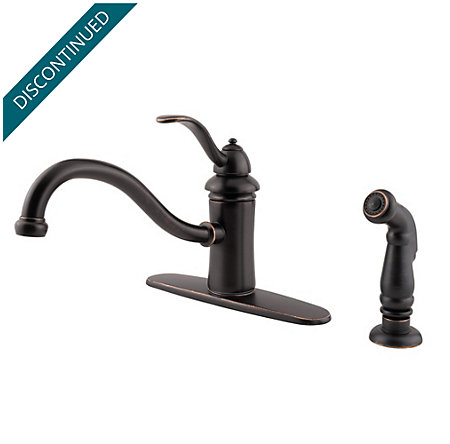 Tuscan Bronze Marielle 1-Handle Kitchen Faucet - 034-4TYY - 1